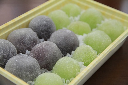 手作り和菓子を頂きました。