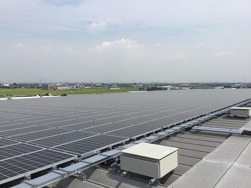 飛島第ニセンターの太陽光パネル工事がほぼ終了しました!