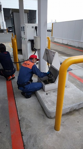 【名古屋南】自家給油所の消防検査がありました。