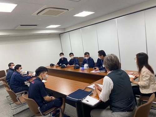 住之江(営)にて実習生ミーティングを開催しました。